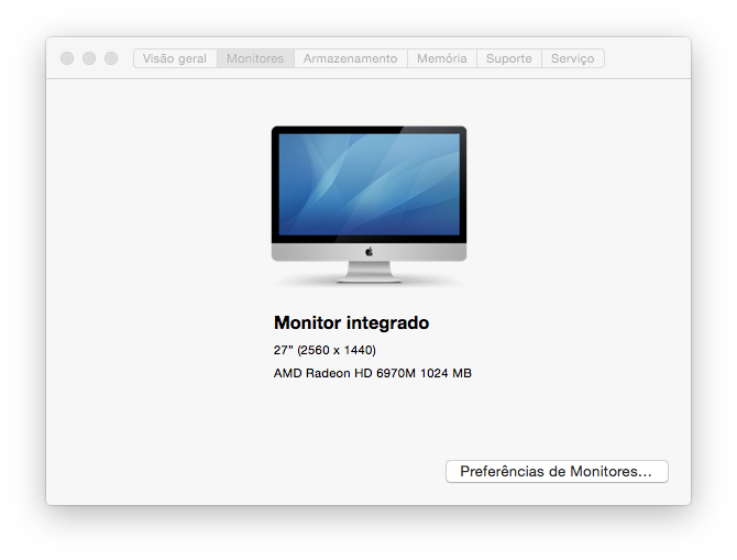 iMac 27″, i7 3,4GHz, VGA 1GB, HD 1TB, RAM 8GB – MID 2011